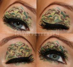 Holy crap! Camo eye lids?!... I think yes!