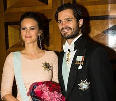 Prince Carl Phillip and Princess Sofia at the Royal Swedish Academy