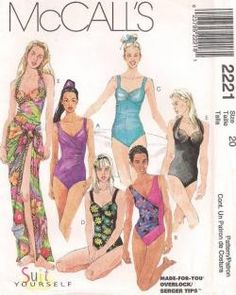ff84e06d9 Finding Vintage Plus Size Swimwear Sewing Patterns