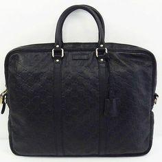 Auth Gucci Business bag GUCCISSIMA leather black 201480 Handbag 202641 (eBay Link)