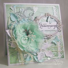 Gorgeous Creation by Mandy for the Simon Says Stamp Wednesday Challenge (Wedding or Anniversary) February 2014