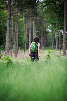 Wandelen in bos. Ik gefotografeerd door Jac Kloots