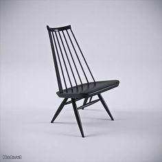 Musta Artekin Mademoiselle -tuoli / Black Artek Mademoiselle chair