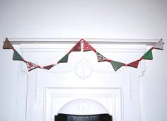 Handmade Double Sided Bunting Red ribbon with white spots by HomeandaFarr on Etsy Red Ribbon, Christmas 2016, Bunting, Arts And Crafts, Holiday Decor, Handmade, Etsy, Home Decor, Homemade Home Decor