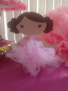 TUTU cute 9.5 inch magnet ballerina...for your next party!   ADORABLE!!!