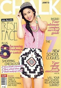 """Fast-rising Kapamilya teen actress Julia Barretto ushers the start of an exciting academic year as she graces the cover of Chalk Magazine's June issue. In the Q & A with Chalk, Julia discloses what it's like to be """"showbiz royalty"""" and College Wardrobe Essentials, Filipina Actress, Teen Actresses, School Shopping, School Shoes, School Fun, Best Makeup Products, Celebrities, Celebrity"""