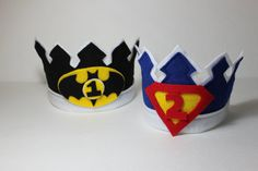 Birthday Crown Super Hero Birthday Hat Waldorf by YourBabyDays