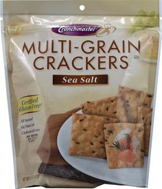 Crunch Master Multi-Grain Crackers Gluten Free Sea Salt