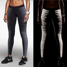 Cheap high waist running tights, Buy Quality sport tights women directly from China running tights women Suppliers: Quick Dry Black Reflective Night Running Tights With Zip Pocket High Waist Women Fitness Gym Sport Trousers Elastic Slim Legging Athletic Outfits, Athletic Wear, Sport Outfits, Athletic Clothes, Gym Outfits, Fashion Outfits, Running Leggings, Nike Leggings, Nike Pants