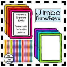 $ Jimbo Frames and Papers https://www.teacherspayteachers.com/Product/Jimbo-Frames-and-Papers-2042038