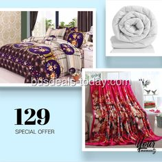 New collections of our bed linen! Visit us at facebook.com/busdeals or go to busdeals-today.com