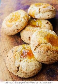 Biscotti cocco e marmellata con nocciole ricetta veloce vickyart arte in cucina