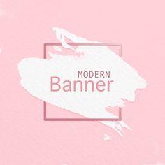 Modern banner of paint brush on pink background Free Psd Gold Glitter Background, Brush Background, Background Banner, Geometric Background, Watercolor Background, Watercolor Cactus, Banner Vector, Banner Template, Vintage Grunge