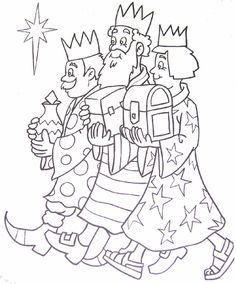 Wise Men Coloring Page - 32 Wise Men Coloring Page , Three Kings Day Coloring Pages Los Tres Reyes Magos Bible Coloring Pages, Flower Coloring Pages, Coloring Pages For Kids, Christmas Crafts For Kids, Christmas Colors, Kids Christmas, Bible Stories For Kids, Three Wise Men, Christmas Drawing