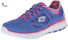 Skechers Skech-Flex Ultimate Reality Blue Pink Womens Trainers-7 - Chaussures skechers (*Partner-Link)
