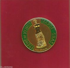Krewe Venus1989 Cloissonne Doubloon Mardi Gras New Orleans Woman Changed World sold $9.00