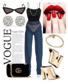 """Go Gina."" by vcvintage on Polyvore featuring Wolford, Y/Project, Bianca Pratt, Yves Saint Laurent, Tom Ford and Gucci"