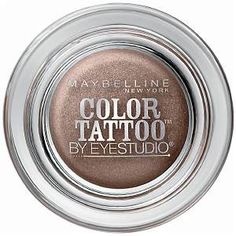 From Shop the Video: The Monday Makeover—The Bronze Eye  Maybelline Eye Studio Color Tattoo 24HR Cream Gel Shadow in Bad to the Bronze, $7