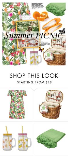 """""""Summer Picnic"""" by xiandrina ❤ liked on Polyvore featuring Kate Spade, Paolo Shoes and picnic"""