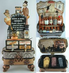 Ghoul & Sons Altered Altoid's Tins & Matchboxes | To see mor… | Flickr