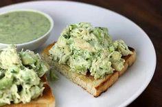 Avacado chicken salad. Minus the bread of course  http://www.andwhatiate.com/2013/01/avocado-chicken-salad-no-mayo.html?m=1