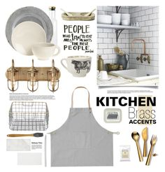 """Subway Kitchen"" by barngirl ❤ liked on Polyvore featuring interior, interiors, interior design, home, home decor, interior decorating, ferm LIVING, NKUKU, Menu and Pier 1 Imports"