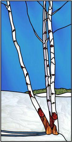 Arbres Boulot en hiver - Birch trees in winter by Manon Cayer https://www.facebook.com/manon.cayer.1