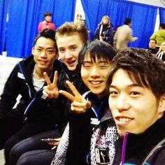 daisuke, misha, yuzuru and takahito  Photo by mikibear8
