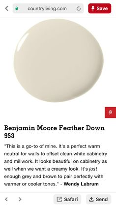 We bought a sample of this and tried in the kitchen before demo. It is a nice, soft and neutral white to off-set other whites and neutrals in the kitchen. with oak cabinets color schemes Room Colors, Wall Colors, House Colors, Interior Paint Colors, Paint Colors For Home, Paint Colours, Painting Tips, House Painting, Paint Chips