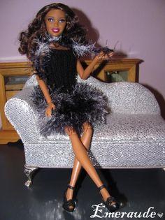 Tricot Barbie: Robe de soirée n°3