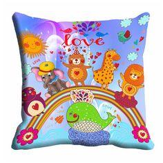 Giftwallas 3D Cartoon Cushion Cover (16x16)
