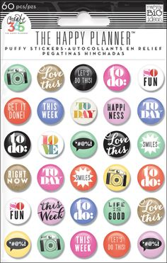 Puffy Stickers - To Do for Create 365™ The Happy Planner™   me & my BIG ideas