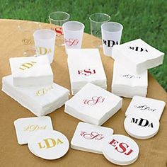 Personalized Party Cups & Napkins
