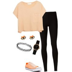 A fashion look from March 2015 featuring Elizabeth and James t-shirts, Rick Owens Lilies leggings and Converse sneakers. Browse and shop related looks.