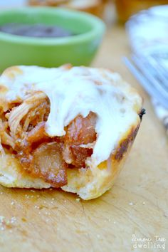 BBQ Chicken Mini Pizzas (made in muffin tins)