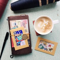 """A regular routine. ☕️ #midoritravelersnotebook #travelersnote #travelersnotebook #scrapbooking #planner #organizer #agenda #journal #journaling…"""