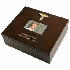 Personalized Keepsake Box with Caduceus for Doctors  // Gifts for Doctors Day March 30th