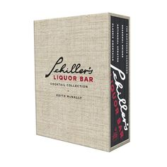 Schiller's Liquor Bar Cocktail Book Box Set #williamssonoma @$16.00  What a great Hostess Gift!