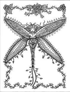 COLORING BOOK Henna Schmetterlinge und Libellen von ChubbyMermaid