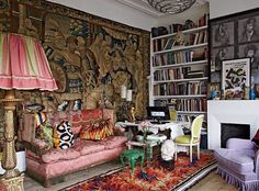 This is the work of extraordinary Belgium interior designer and architect Gert Voorjans .. I think this is his studio . Astonishingly this great colourist worked for Axel Vervoordt . He has been collaborating with the love of my life, dress designer  Dries Van Noten for years and decorating all his shops and studio . I can't believe I was too busy when I was in Paris two months ago to go and see DVN shop .  Anyway a  gorgeous chic friend of mine commissioned him to do up her house in Germany…