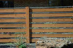 DIY Wooden lawn fence