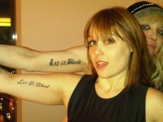 """Courtney Love & her day to day manager got similar tat's """"Let It Bleed"""" Similar Placement"""