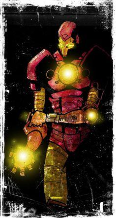 first iron man drawing by ~NoahWhyler