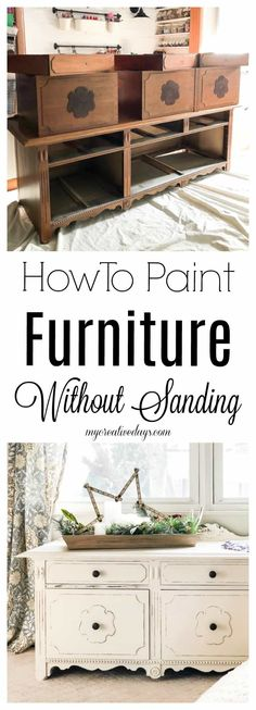 Skip the sanding and learn how to paint furniture without sanding.