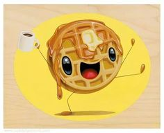 Mr. Good morning waffle. ★ Find more at http://www.pinterest.com/competing/