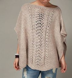 Items similar to hand knit woman cotton Poncho/ capelet Mocha sweater on Etsy Knitted Poncho, Crochet Shawl, Cozy Knit, Knit Cowl, Poncho Sweater, Knitted Bags, Knitting Patterns, Crochet Patterns, Poncho Patterns