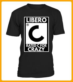 Volleyball Libero Rated C for Crazy - Volleyball shirts (*Partner-Link)