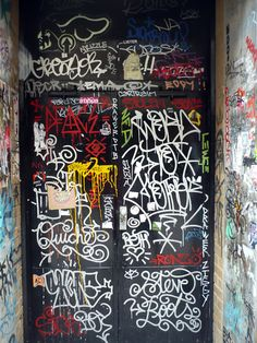 Saw this level of graffiti everywhere everyday in Berlin Germany... beautiful in some ways and circumstances
