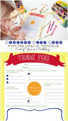 Teacher Gift Idea free printable coloring page