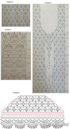 Crochet Fabric, Crochet Tank, Crochet Diagram, Crochet Blouse, Crochet Hooks, Knit Crochet, Crochet Stitches Patterns, Stitch Patterns, Crochet Woman